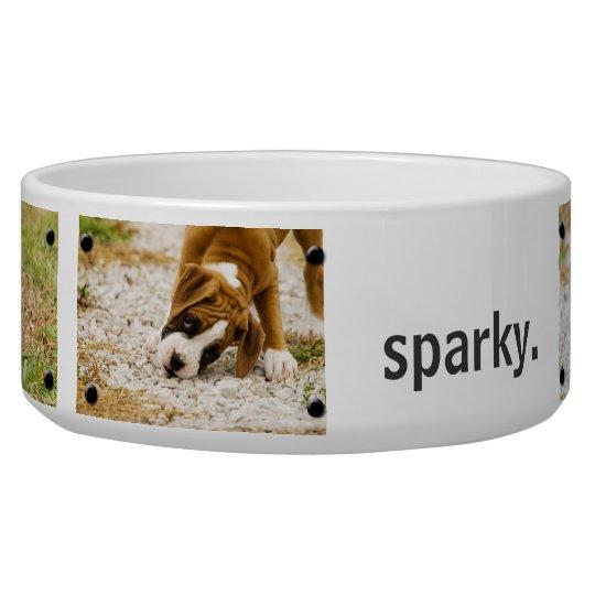 Personalised Custom Photo and Name Dog Bowl