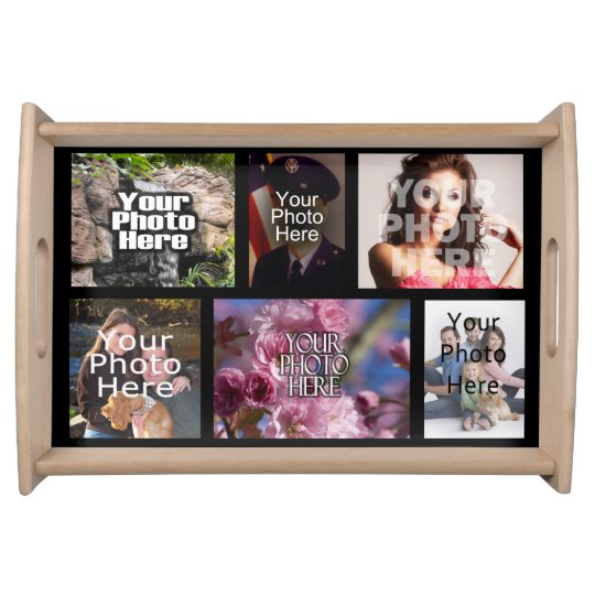 Personalised Custom Photo Collage Montage Serving Tray