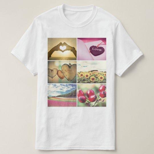 Personalised custom photo collage T-Shirt