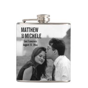 Personalised Custom Photo Wedding Flask