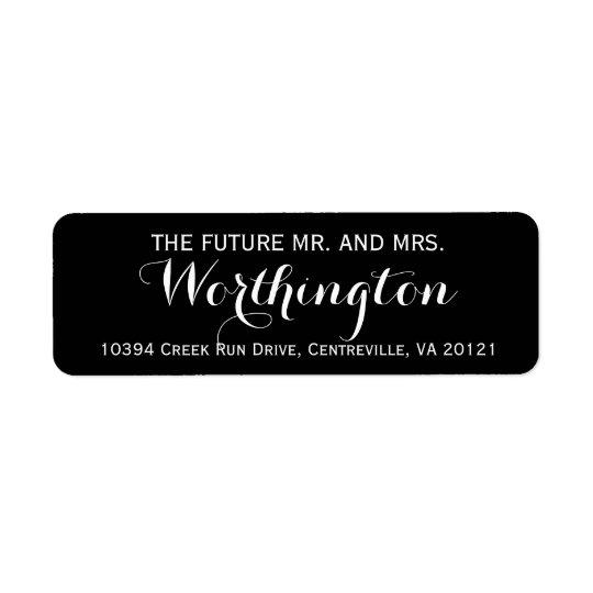 Personalised Custom Wedding Future Mr and Mrs Return