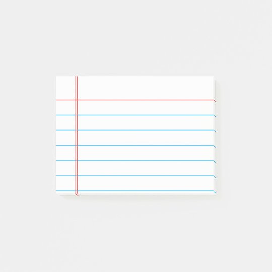 Personalised Customisable Lined Notebook Paper Post-it Notes