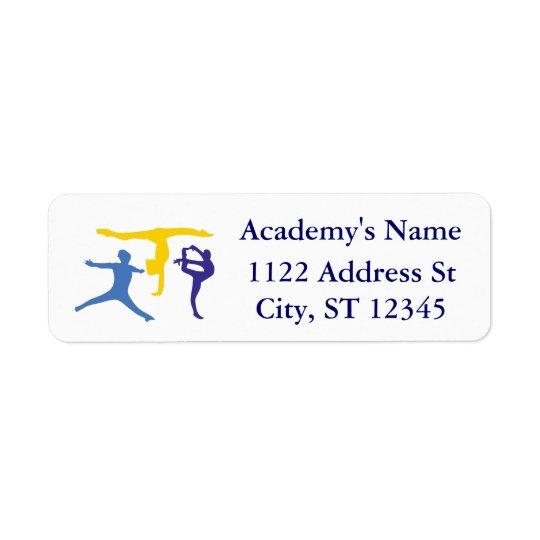 Personalised Customised Gymnastics Business Supply Return Address Label