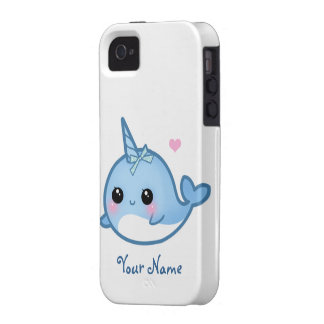 Personalised Cute baby narwhal Vibe iPhone 4 Cover