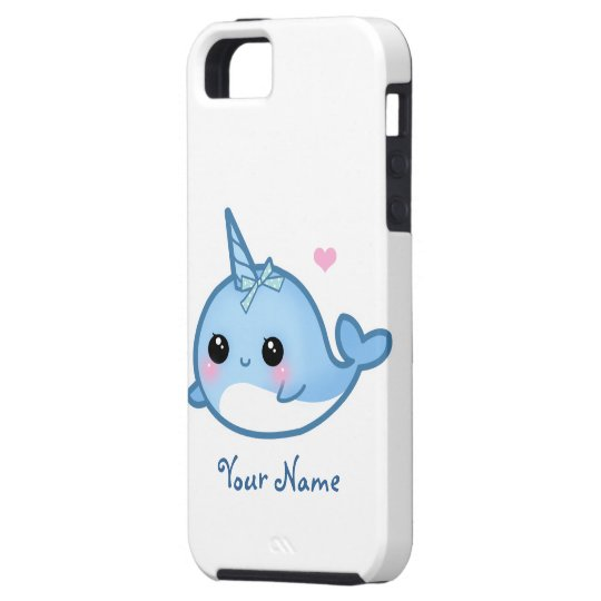 Personalised Cute baby narwhal Case For The iPhone