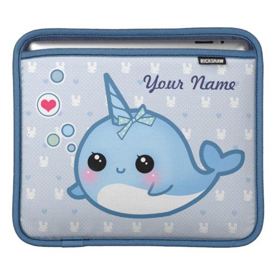 Personalised Cute baby narwhal iPad Sleeves