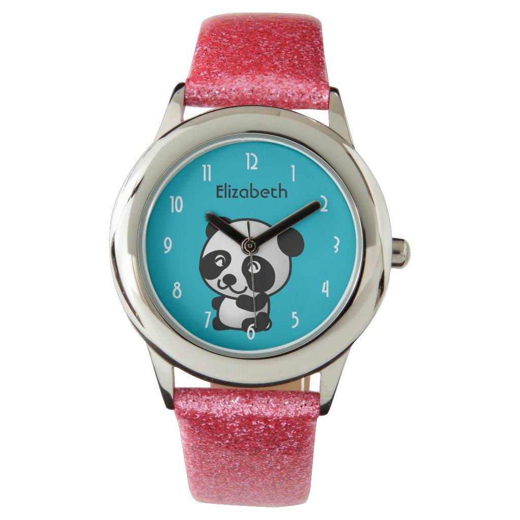 Personalised Cute Black and White Panda Bear