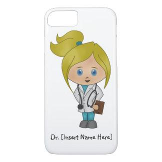 Personalised Cute Blonde Girl Doctor iPhone 7 Case