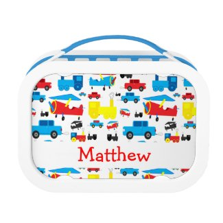 Personalised Cute Colourful Planes, Trains and