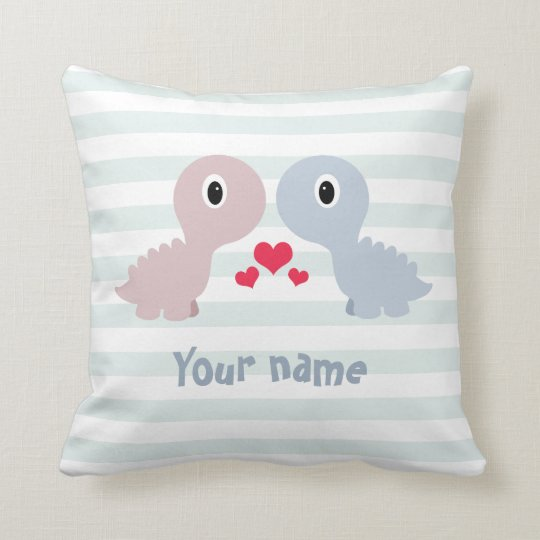 Personalised cute dinosaurs cushion