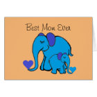 Personalised Cute Elephants Mother's Day Card