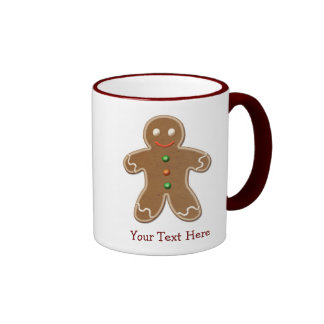 Personalised Cute Holiday Gingerbread Man