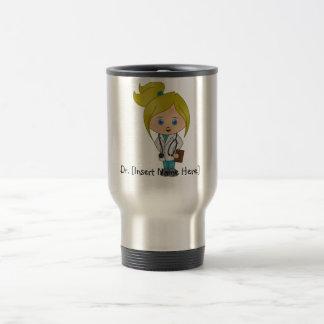 Personalised Cute Lady Doctor Mug - Blonde
