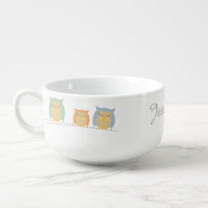 Personalised Cute Owl Soup Mug