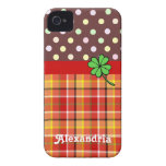Personalised Cute Polka Dots & Four-leaf Clover