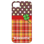 Personalised Cute Polka Dots & Four-leaf Clover iPhone 5 Covers