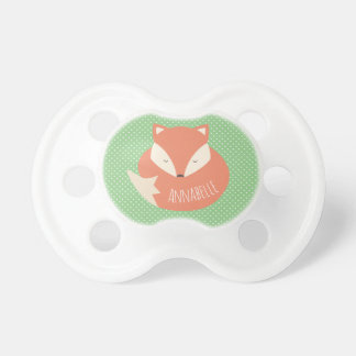 Personalised Cute Sleeping Fox Dummy