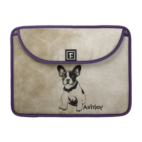 Personalised Cute Sweet French Bulldog Puppy Sleeve For MacBooks