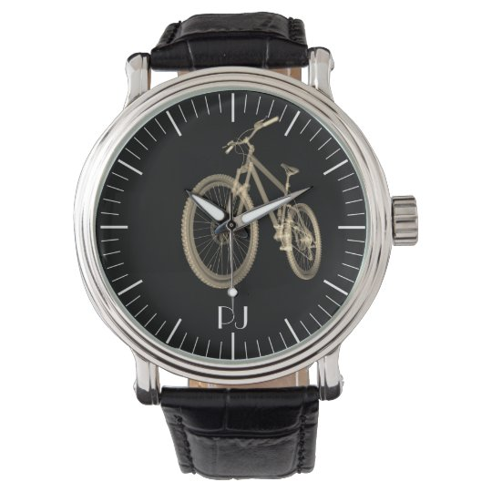 Personalised Cyclist Themed Bicycle Print Watch