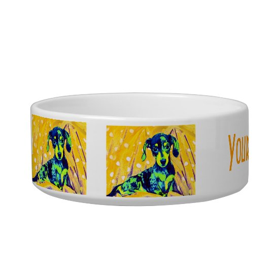 personalised dachshund bowl