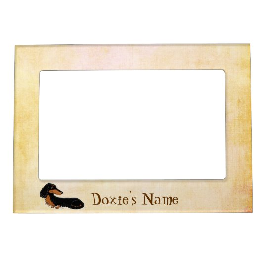 Personalised Dachshund Cartoon Magnetic Picture Frame