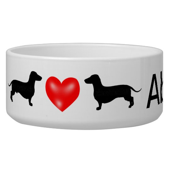Personalised Dachshund Dog Bowl