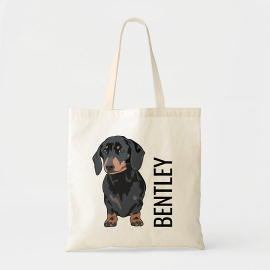 Personalised Dachshund Pet Name | Cute Doggy Goody Tote Bag