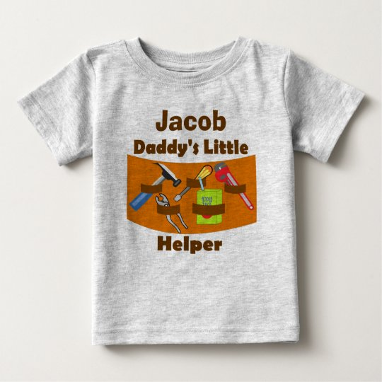 """Personalised """"Daddy's Little Helper"""" Baby T-Shirt"""