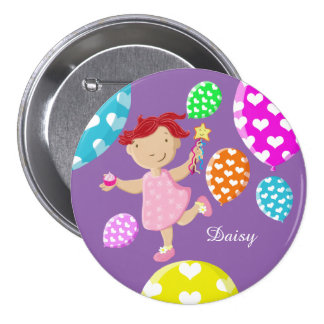 Personalised Daisy Cupcake Balloons And Wand 7.5 Cm Round Badge