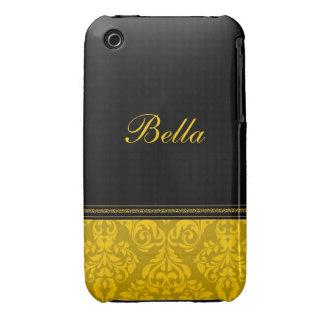 Personalised Damask Design Blackberry Curve case