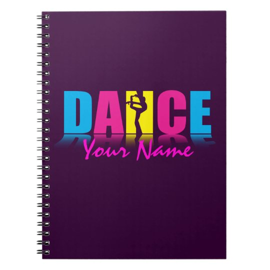 Personalised Dance Dancer Spiral Notebook