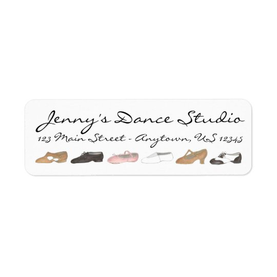 Personalised Dance Shoes Teacher Studio Labels