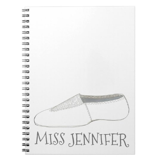 Personalised Dance Teacher Gym Coach Gift Notebook
