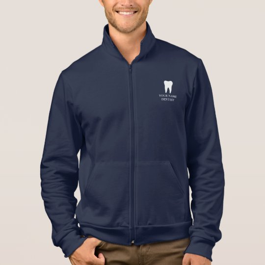 Personalised dentist jacket with tooth logo