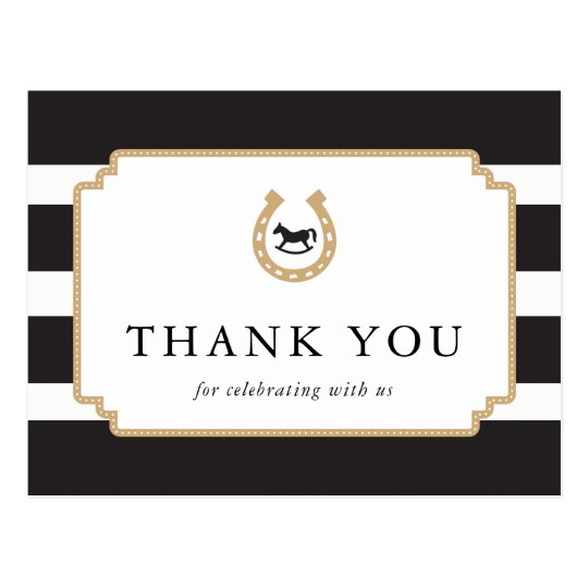Personalised Derby Thank You Postcard Baby Shower
