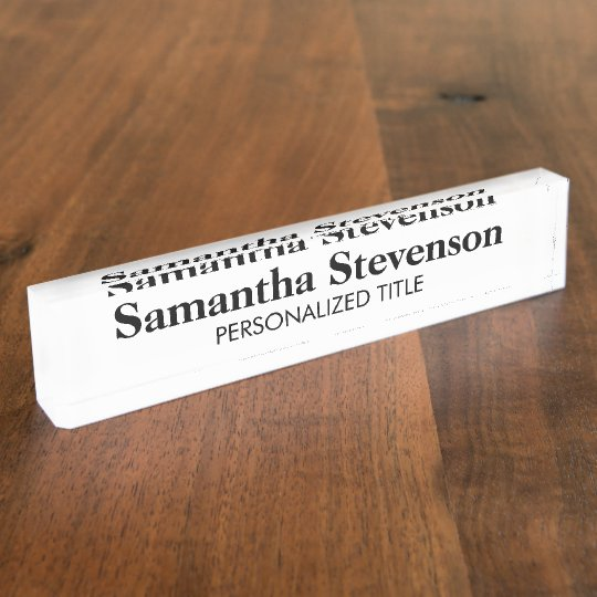 Personalised desk name plate with business tittle