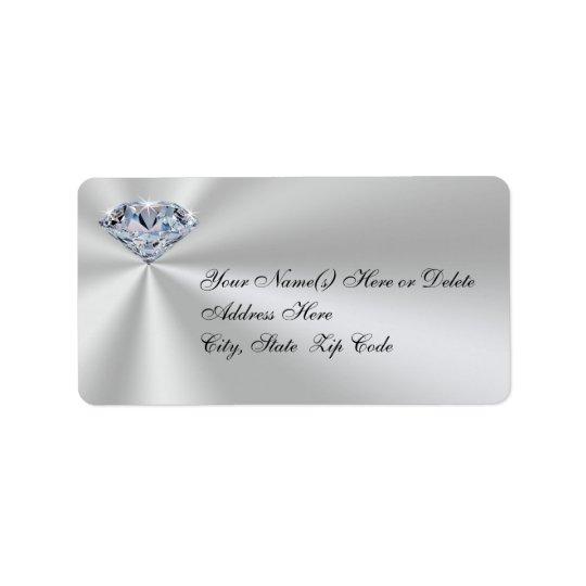 Personalised Diamond Anniversary Address Labels