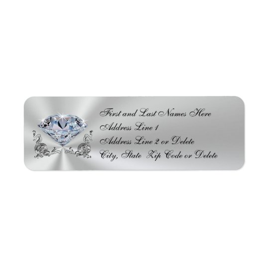 Personalised Diamond Anniversary Invitation Labels