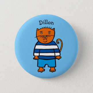 Personalised Dillon the Cat 6 Cm Round Badge