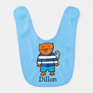 Personalised Dillon the Cat Bib