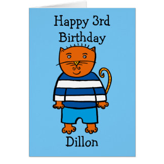 Personalised Dillon the Cat Card