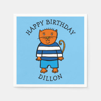 Personalised Dillon the Cat Disposable Serviettes