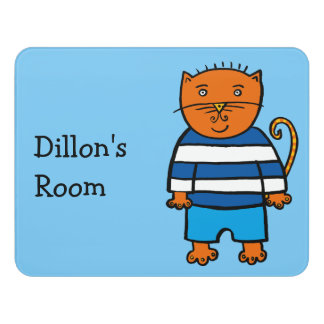 Personalised Dillon the Cat Door Sign