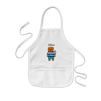 Personalised Dillon the Cat Kids Apron