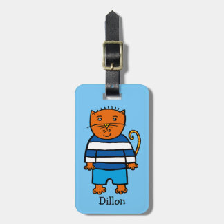 Personalised Dillon the Cat Luggage Tag