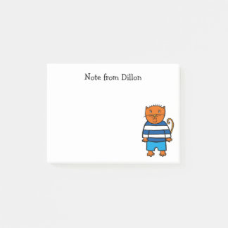 Personalised Dillon the Cat Post-it Notes