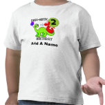 Personalised Dinosaur 2nd Birthday Tshirt