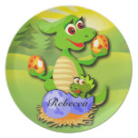 Personalised Dinosaur mother and baby cartoon