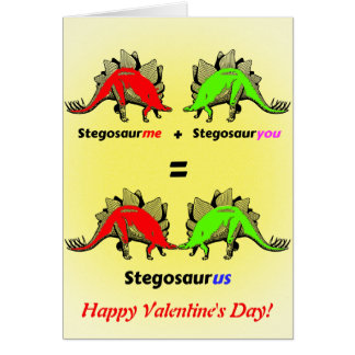Personalised Dinosaur Valentine Card