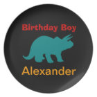 Personalised Dinosuar Birthday Boy Melamine Plates